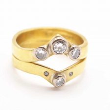 Wishbone Engagement Eternity Ring
