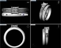 14 Stone Wedding Ring CAD Model