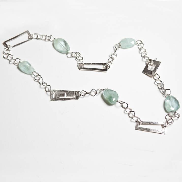 Aquamarine Labyrinth Neckpiece