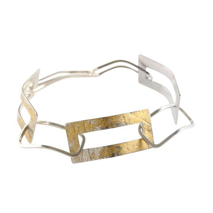 Gold Leaf Frame Bracelet