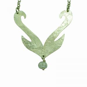 Rollered Swan Pendant