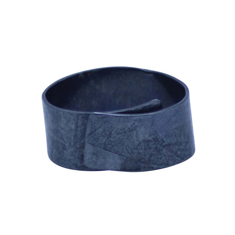 Chunky Oxidised Rollered Ring