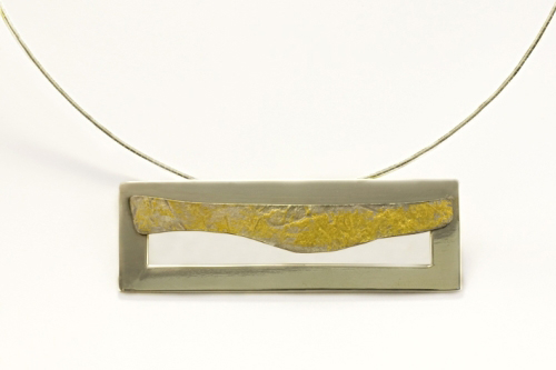 Frame Layered Gold Leaf Pendant