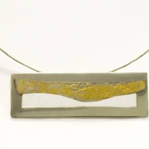 Frame Layered Gold Leaf Pendant