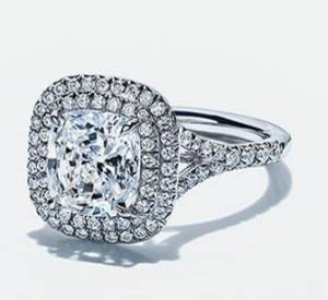 Tiffany Square Bling Engagement Ring