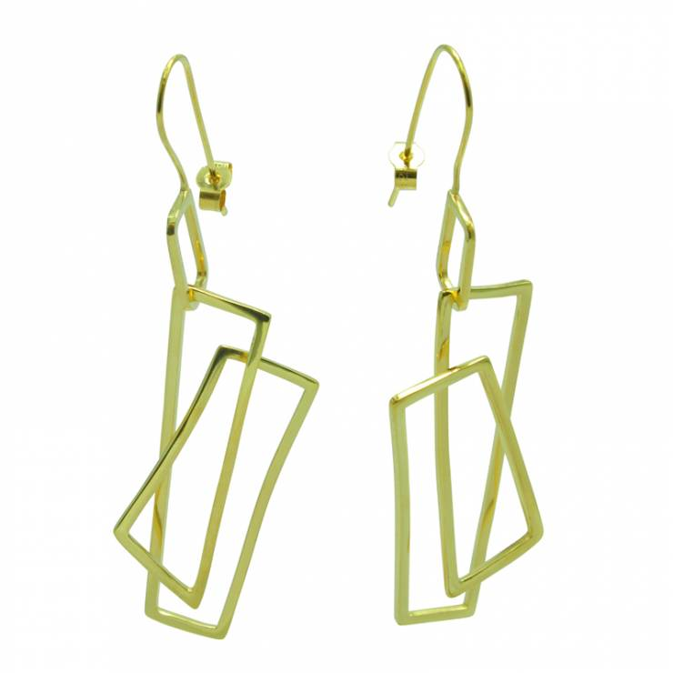 Component 18ct Gold Plated Wire Earrings
