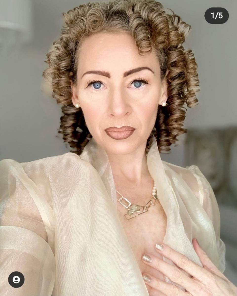 Nikki Oji wearing the green amethyst pearl neckpiece