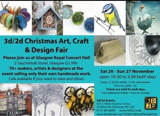 3D/2D Christmas Art, Craft & Design Fair November