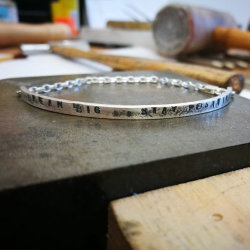 Make Your Own Mantra Bracelet Bangle - Group Class