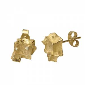 18ct Gold Cube Studs
