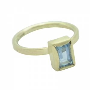 Rachael Aqua Engagment Ring 9ct