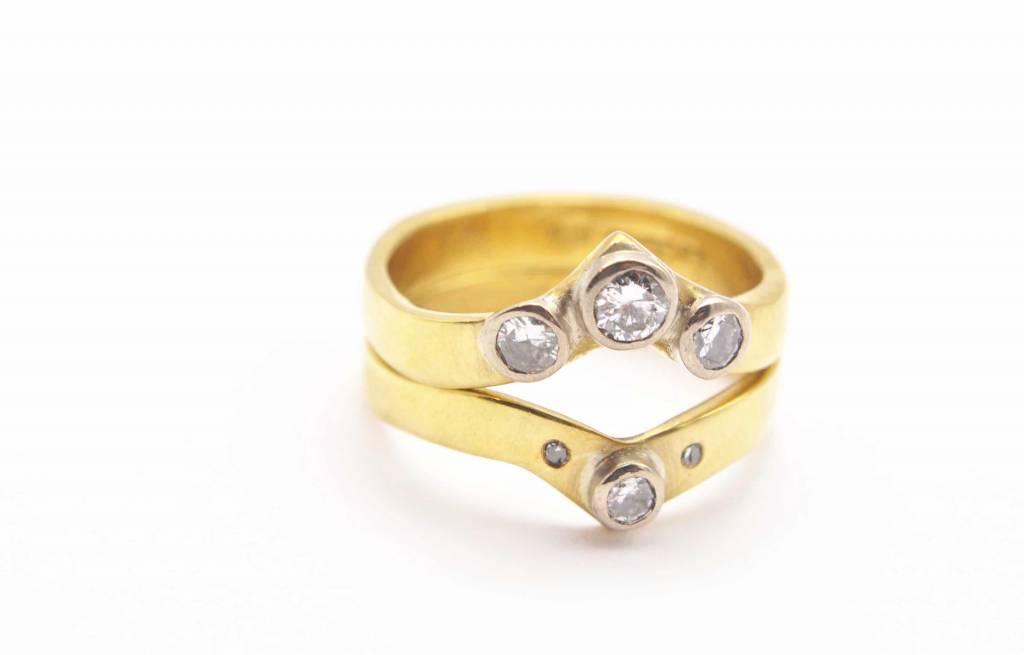 diamond wedding ring and eternity ring