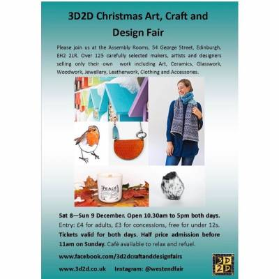 3d2d christmas art, craft and design fair