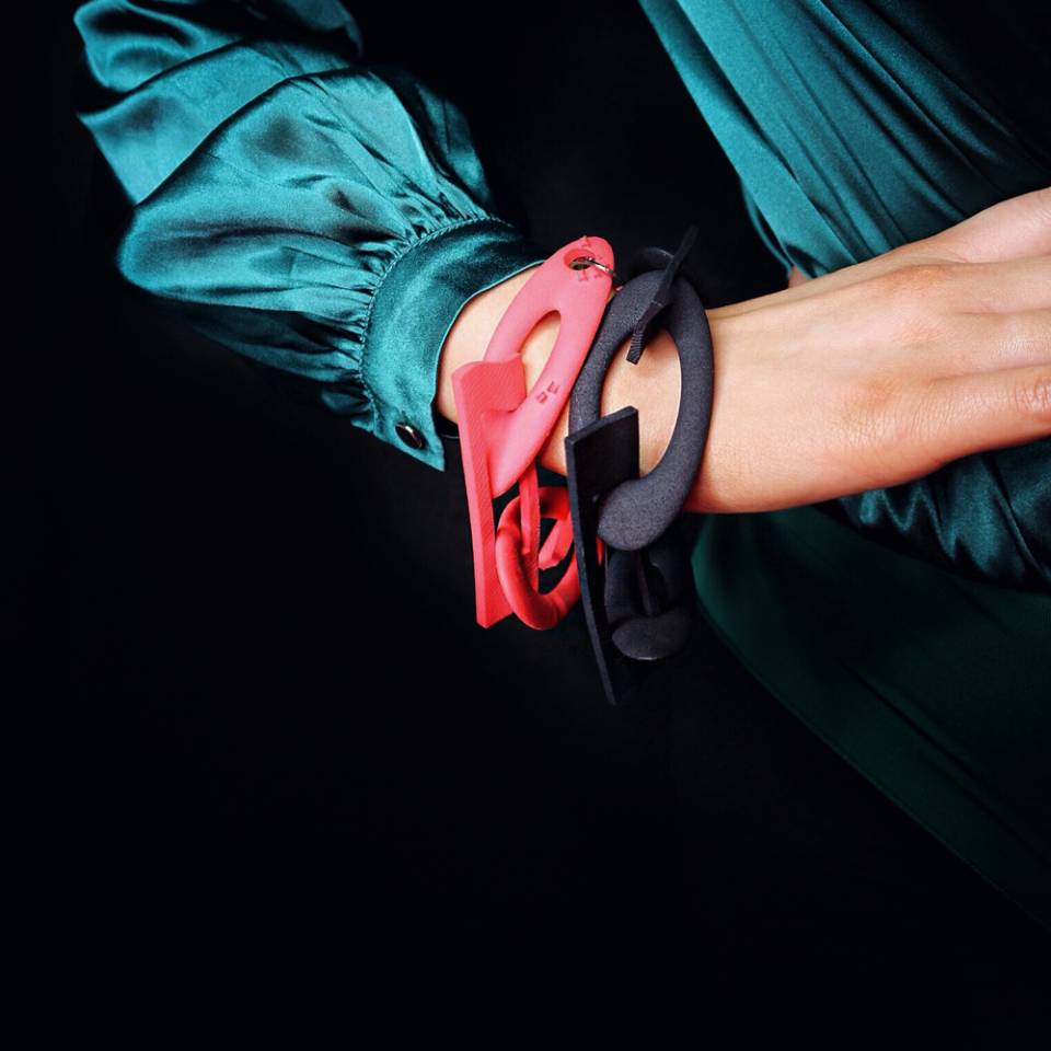 red black chain bracelets styled by Howeydon