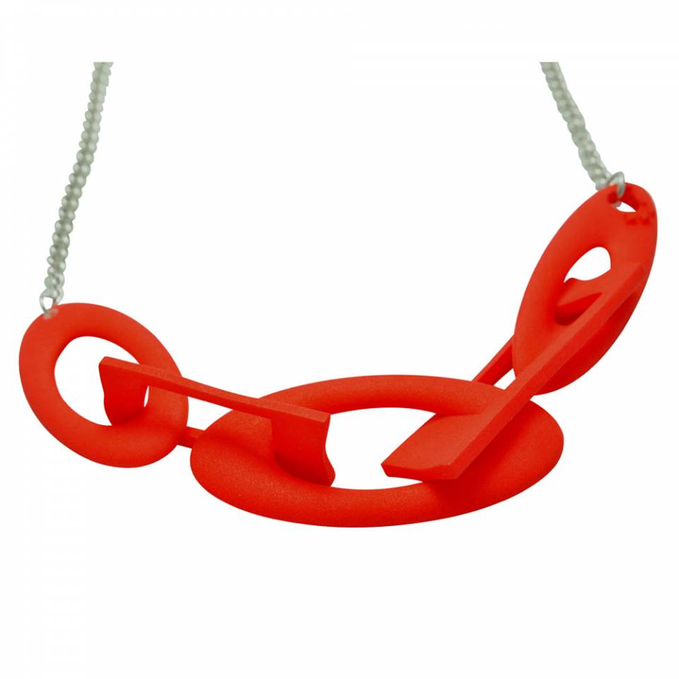 red chain silver -small