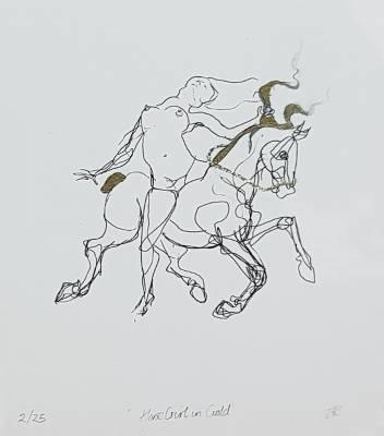 Jennifer Robson Artist - Horse girl