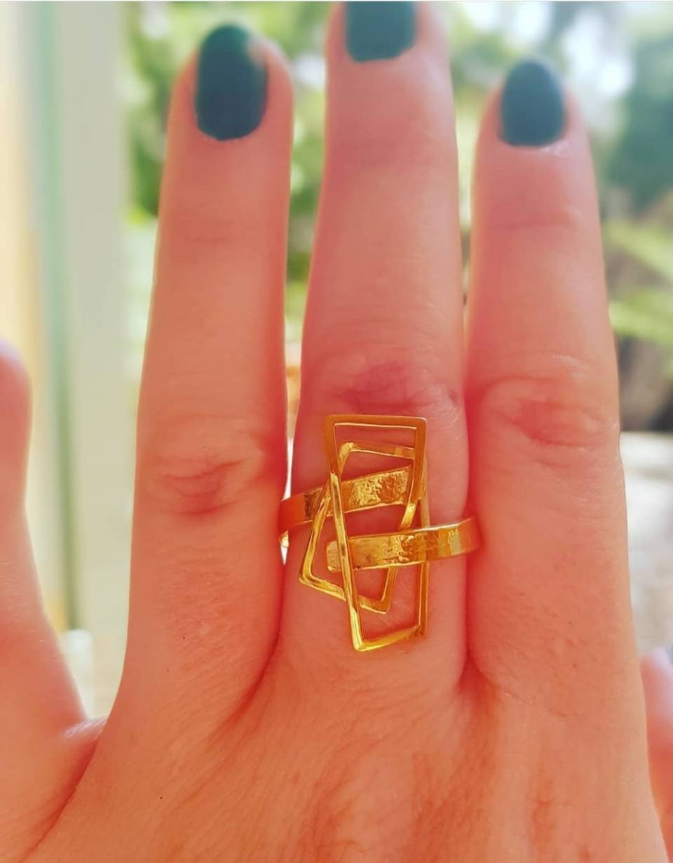 small 18ct gold plated component ring