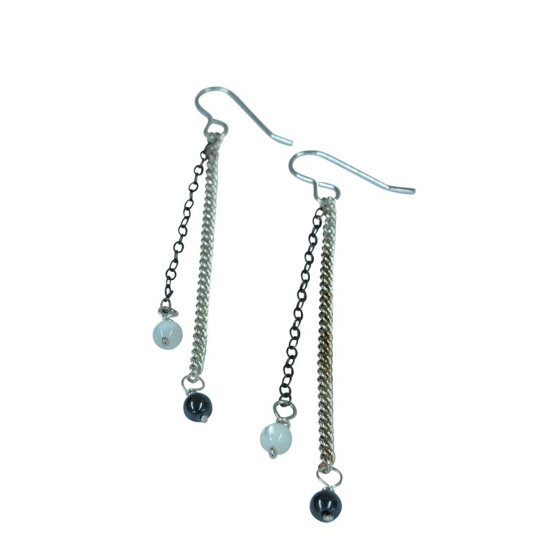 2 chain earrings