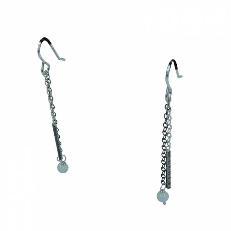 3 chain textured drop earrings