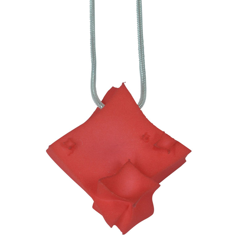 large red cube pendant