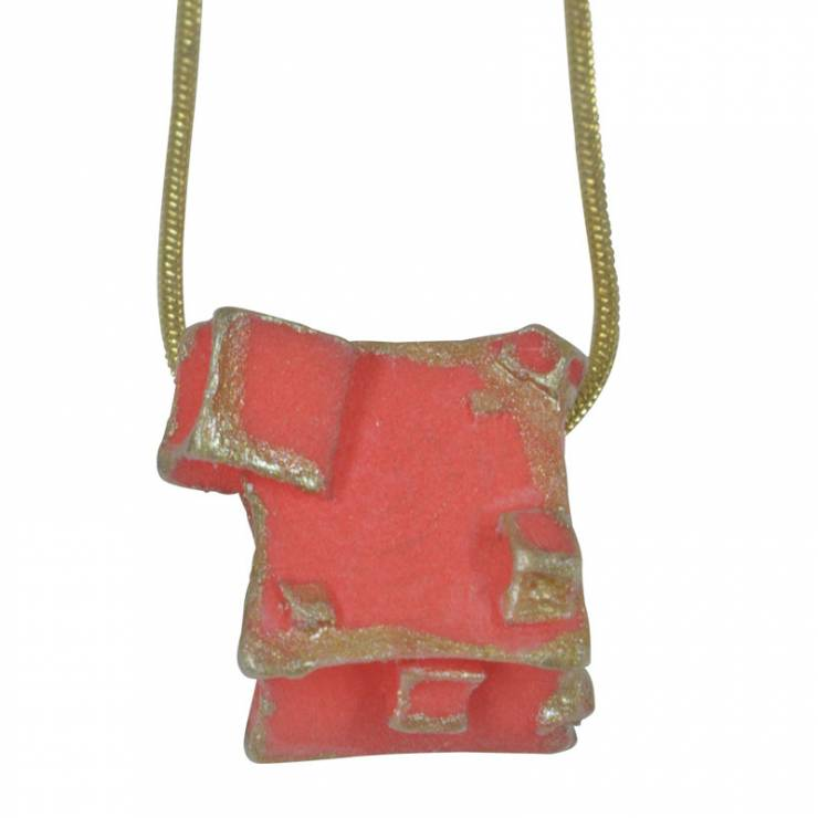 red gold pendant