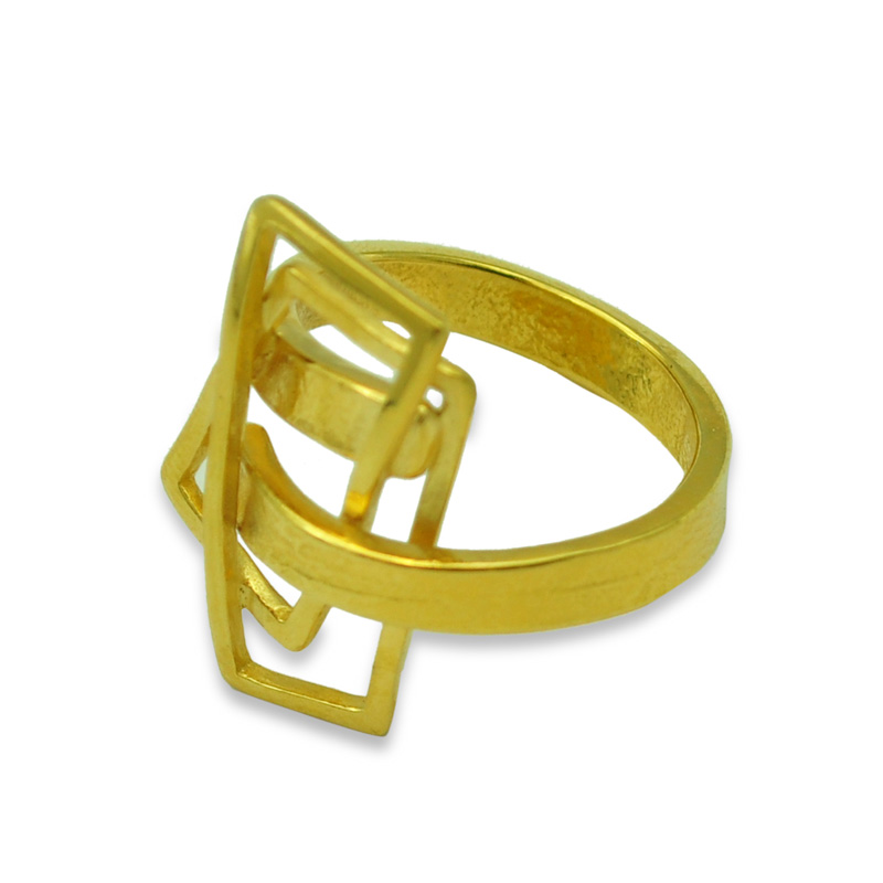 small component gold plated silver ring