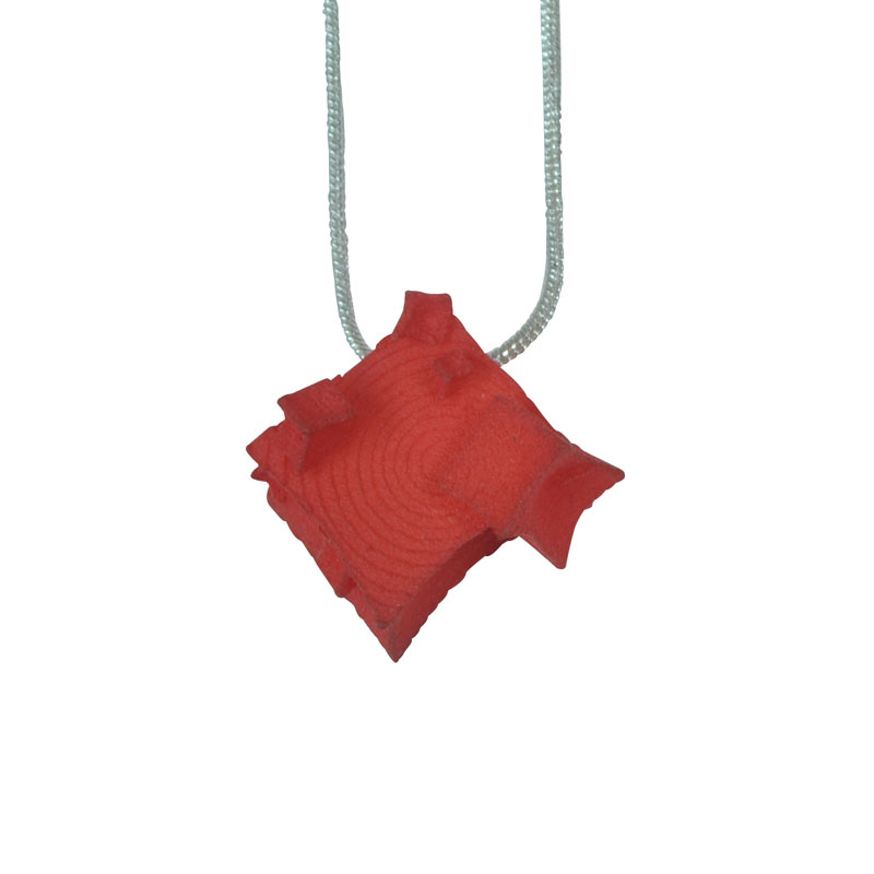 small red cube pendant