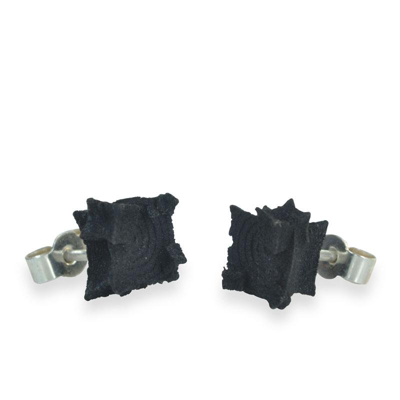 black cube studs