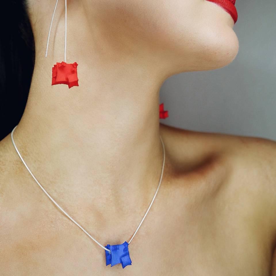 blue cube pendant