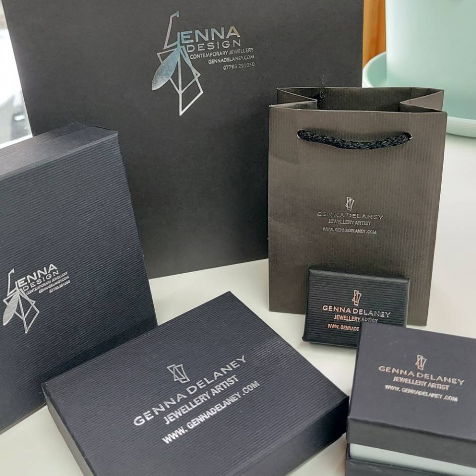 printed jewellery gift boxes and gift bags