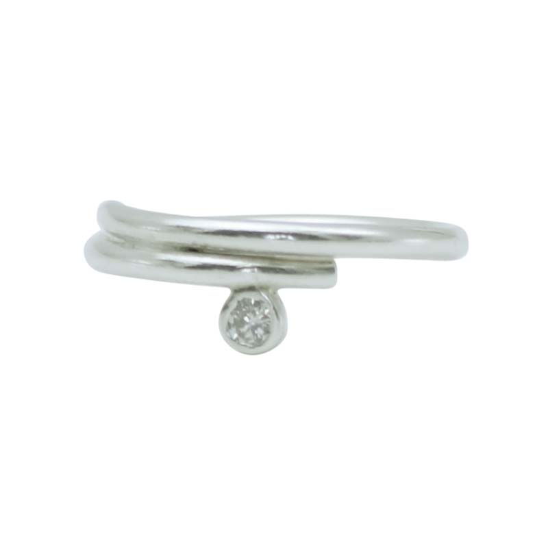 make your own engagement ring - silver cz wrap engagement ring