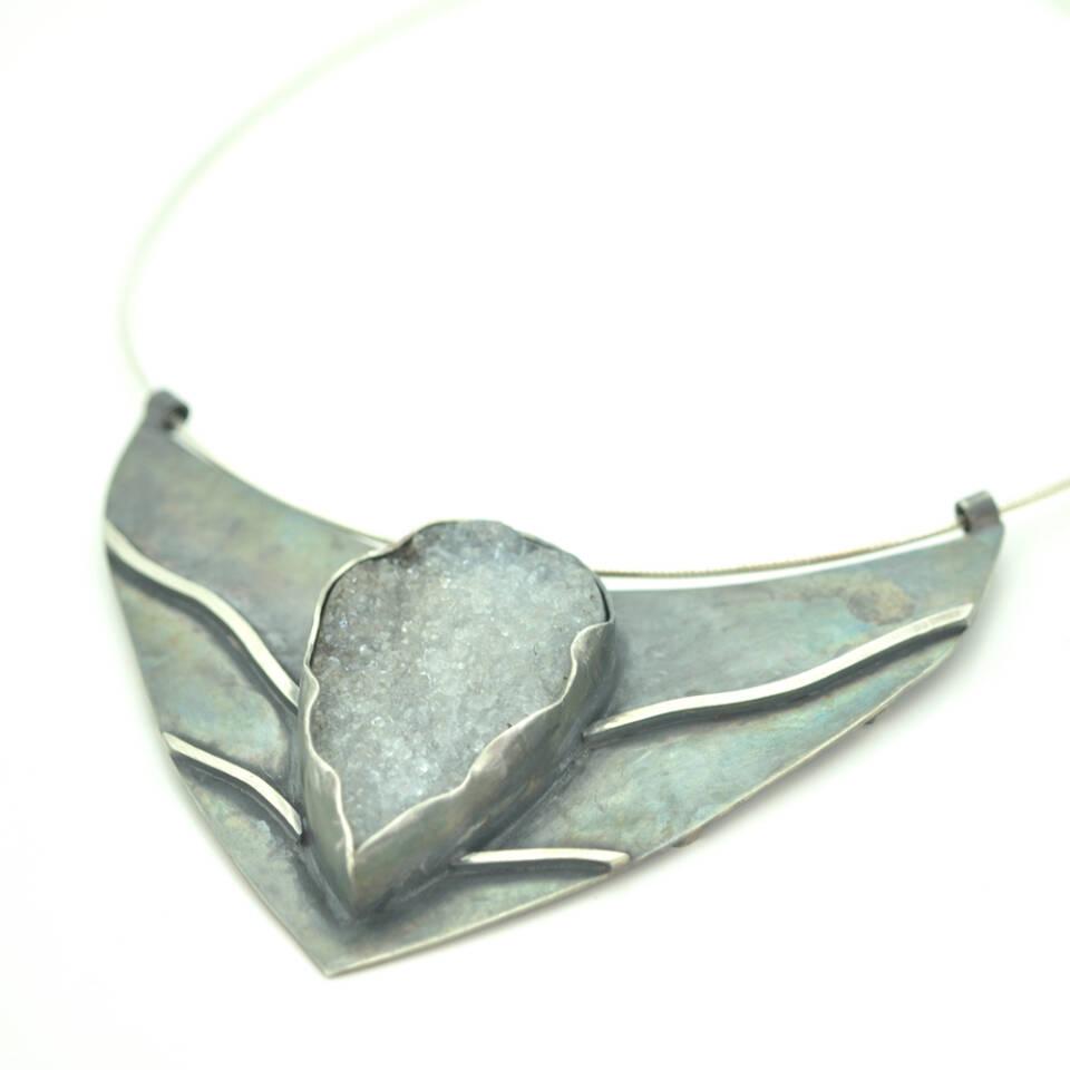 double sided drusey neckpiece