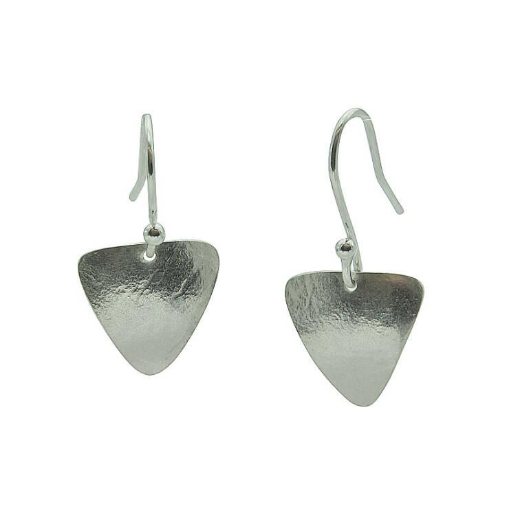 triangle rollered drop earrings
