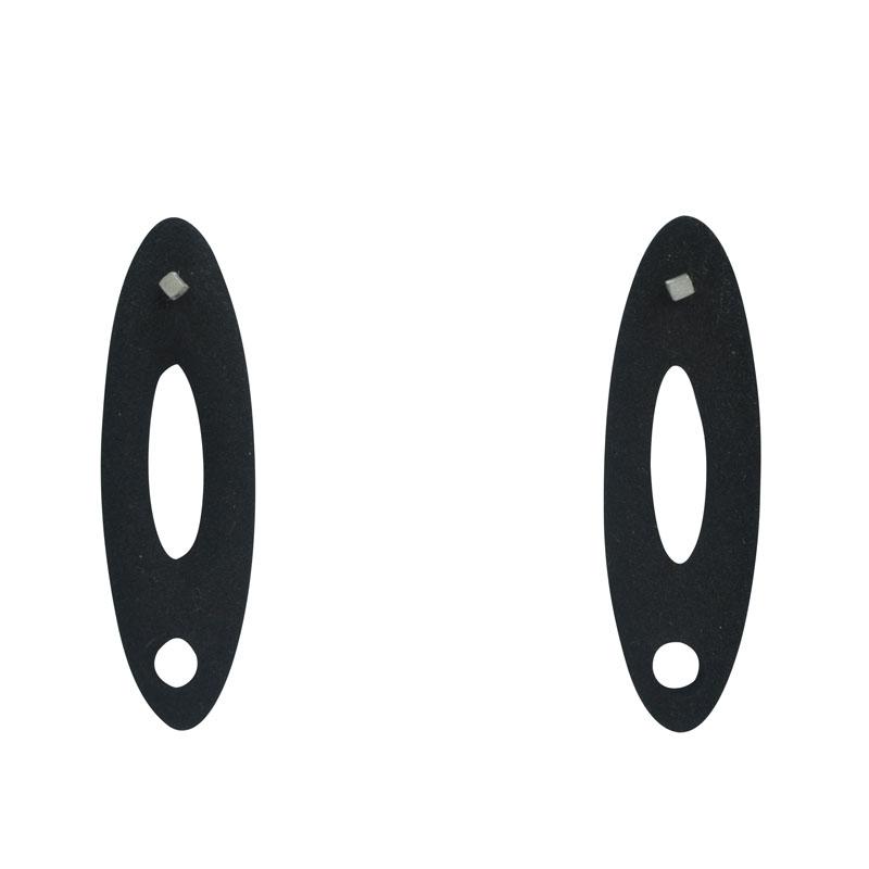 small black oval studs