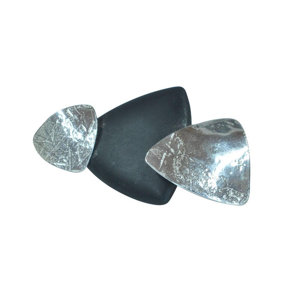 triangle onyx brooch