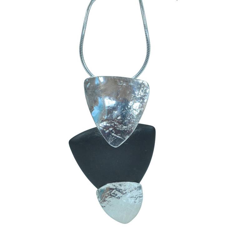 triangle onyx pendant
